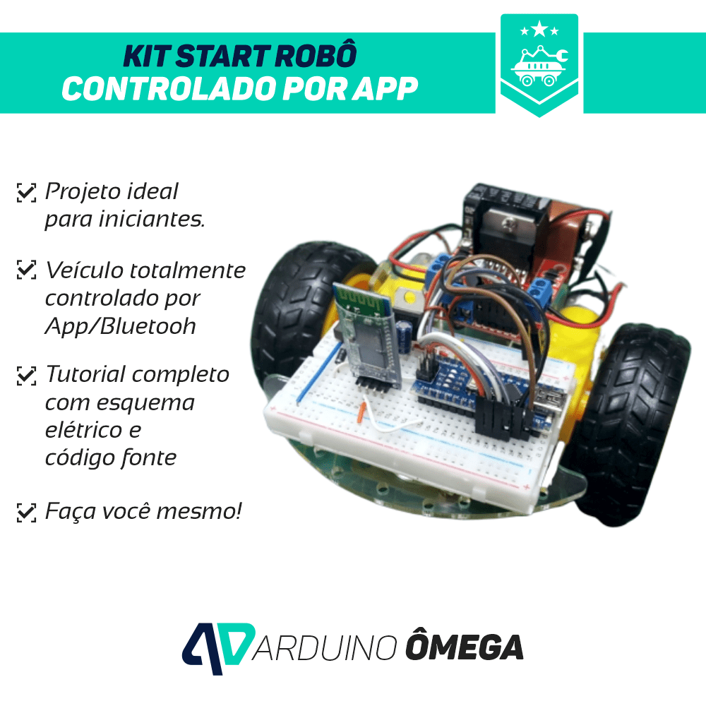 Kit Start Robô Controlado por App